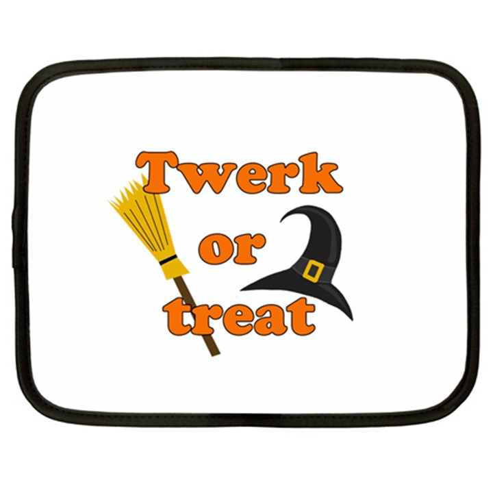 Twerk or treat - Funny Halloween design Netbook Case (XL)