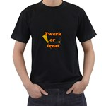 Twerk or treat - Funny Halloween design Men s T-Shirt (Black)