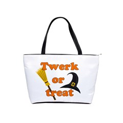 Twerk Or Treat   Funny Halloween Design Shoulder Handbags by Valentinaart
