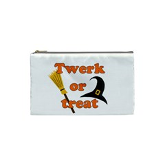 Twerk Or Treat   Funny Halloween Design Cosmetic Bag (small)  by Valentinaart