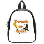 Twerk or treat - Funny Halloween design School Bags (Small)