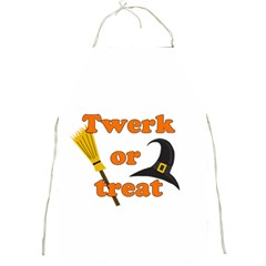 Twerk Or Treat   Funny Halloween Design Full Print Aprons