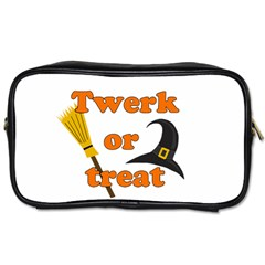 Twerk Or Treat   Funny Halloween Design Toiletries Bags 2 Side by Valentinaart