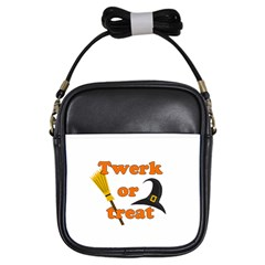 Twerk Or Treat   Funny Halloween Design Girls Sling Bags by Valentinaart
