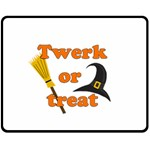 Twerk or treat - Funny Halloween design Fleece Blanket (Medium)