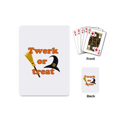 Twerk Or Treat   Funny Halloween Design Playing Cards (mini)