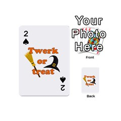 Twerk Or Treat   Funny Halloween Design Playing Cards 54 (mini)  by Valentinaart
