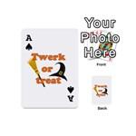 Twerk or treat - Funny Halloween design Playing Cards 54 (Mini)  Front - SpadeA