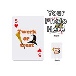 Twerk or treat - Funny Halloween design Playing Cards 54 (Mini)  Front - Heart5
