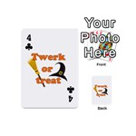 Twerk or treat - Funny Halloween design Playing Cards 54 (Mini)  Front - Club4