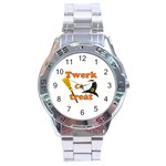 Twerk or treat - Funny Halloween design Stainless Steel Analogue Watch