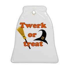 Twerk Or Treat   Funny Halloween Design Bell Ornament (2 Sides)