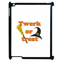 Twerk Or Treat   Funny Halloween Design Apple Ipad 2 Case (black) by Valentinaart