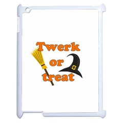Twerk Or Treat   Funny Halloween Design Apple Ipad 2 Case (white) by Valentinaart
