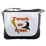 Twerk or treat - Funny Halloween design Messenger Bags