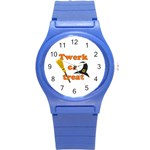 Twerk or treat - Funny Halloween design Round Plastic Sport Watch (S)