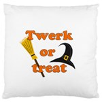 Twerk or treat - Funny Halloween design Large Cushion Case (One Side)