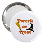 Twerk or treat - Funny Halloween design 3  Handbag Mirrors
