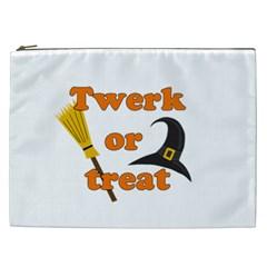 Twerk Or Treat   Funny Halloween Design Cosmetic Bag (xxl)  by Valentinaart