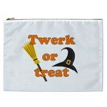 Twerk or treat - Funny Halloween design Cosmetic Bag (XXL)