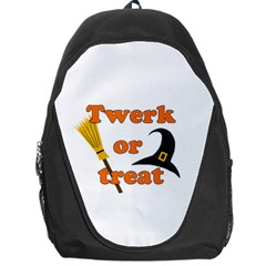 Twerk Or Treat   Funny Halloween Design Backpack Bag by Valentinaart