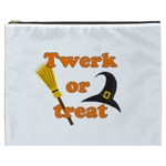 Twerk or treat - Funny Halloween design Cosmetic Bag (XXXL)  Front