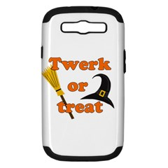 Twerk Or Treat   Funny Halloween Design Samsung Galaxy S Iii Hardshell Case (pc+silicone)