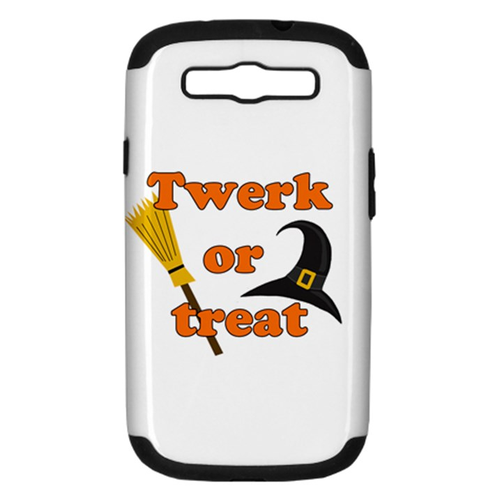 Twerk or treat - Funny Halloween design Samsung Galaxy S III Hardshell Case (PC+Silicone)