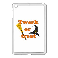 Twerk Or Treat   Funny Halloween Design Apple Ipad Mini Case (white) by Valentinaart