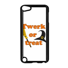 Twerk Or Treat   Funny Halloween Design Apple Ipod Touch 5 Case (black) by Valentinaart