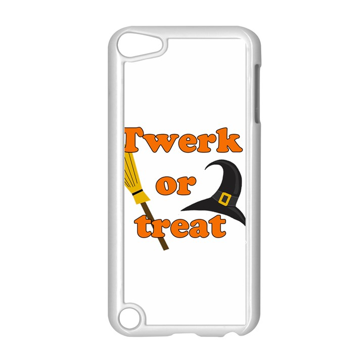 Twerk or treat - Funny Halloween design Apple iPod Touch 5 Case (White)