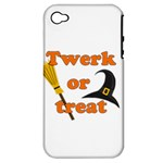 Twerk or treat - Funny Halloween design Apple iPhone 4/4S Hardshell Case (PC+Silicone)