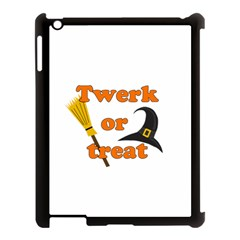 Twerk Or Treat   Funny Halloween Design Apple Ipad 3/4 Case (black) by Valentinaart