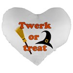 Twerk or treat - Funny Halloween design Large 19  Premium Heart Shape Cushions