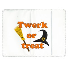 Twerk Or Treat   Funny Halloween Design Samsung Galaxy Tab 7  P1000 Flip Case by Valentinaart