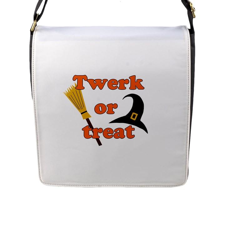 Twerk or treat - Funny Halloween design Flap Messenger Bag (L)