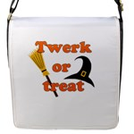 Twerk or treat - Funny Halloween design Flap Messenger Bag (S)