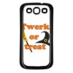 Twerk or treat - Funny Halloween design Samsung Galaxy S3 Back Case (Black)