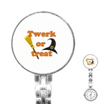 Twerk or treat - Funny Halloween design Stainless Steel Nurses Watch