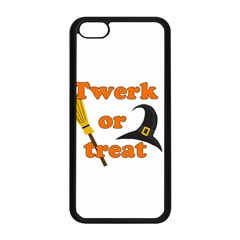 Twerk Or Treat   Funny Halloween Design Apple Iphone 5c Seamless Case (black)