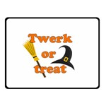 Twerk or treat - Funny Halloween design Double Sided Fleece Blanket (Small)