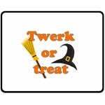 Twerk or treat - Funny Halloween design Double Sided Fleece Blanket (Medium)