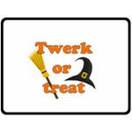 Twerk or treat - Funny Halloween design Double Sided Fleece Blanket (Large)