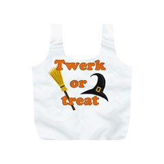 Twerk Or Treat   Funny Halloween Design Full Print Recycle Bags (s)