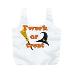 Twerk Or Treat   Funny Halloween Design Full Print Recycle Bags (m)  by Valentinaart