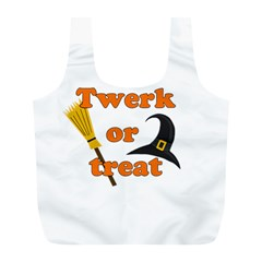 Twerk Or Treat   Funny Halloween Design Full Print Recycle Bags (l)  by Valentinaart