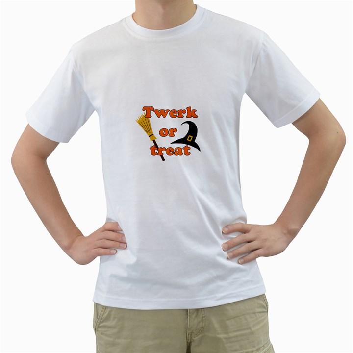 Twerk or treat - Funny Halloween design Men s T-Shirt (White)