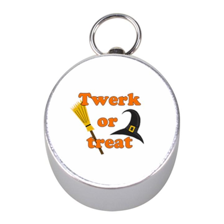 Twerk or treat - Funny Halloween design Mini Silver Compasses