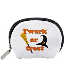 Twerk Or Treat   Funny Halloween Design Accessory Pouches (small)