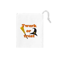 Twerk Or Treat   Funny Halloween Design Drawstring Pouches (small)  by Valentinaart